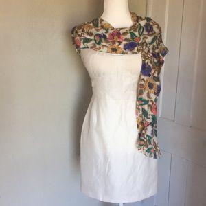 J. Crew Linen & Silk Bustier Dress - 6